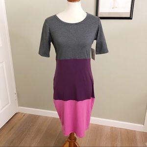 NWT LULAROE • Purple and gray color block Julia S